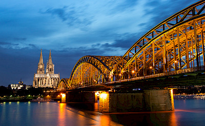 Cathedral of Cologne along the Rhine River in Germany. Flickr:Anja Pietsch