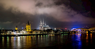 Another great view of the Cathedral and Bridge in Cologne, Germany. Flickr:Janniknitz