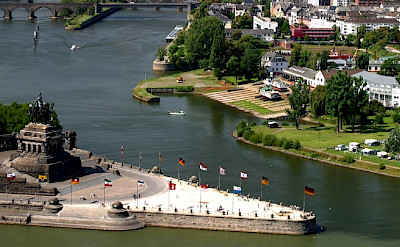 Overlooking Koblenz, Germany on the Rhine & Mosel Rivers. ©TO
