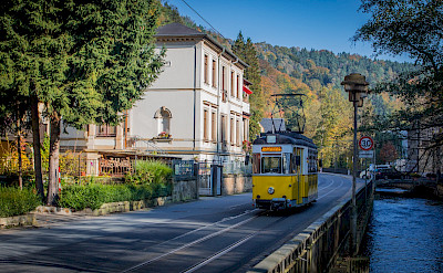 Tram in Bad Schandau, Germany. Flickr:Max Stolbinsky
