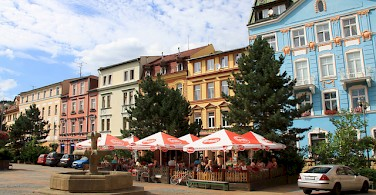 Such colorful buildings - the cities are tours themselves! This one in Decin. Photo via Flickr:boaski