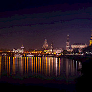 Elbe River at night looking towards Dresden, Germany. Flickr:Philipp Zieger