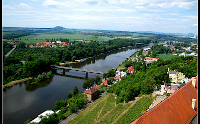 Melnik at the confluence of the Rivers Labe and Vltava in the Czech Republic. Flickr:Ondre Jpospisil