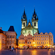 That famous Old Town square in Prague, Czech Republic. Flickr:Pedro Szekely