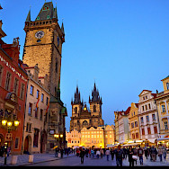 Gorgeous Prague! In the Old Town, seen so beautifully from a bicycle. Flickr:Moyan Brenn