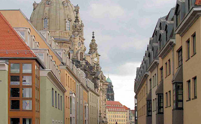 Bike rest to sightsee on the Prague to Dresden Bike Tour. Photo via TO