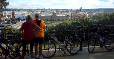 Bike rest cycling from Prague to Dresden. Photo courtesy of Tour Operator.