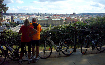 Bike rest cycling from Prague to Dresden. Photo via TO