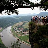 What a view on the Prague to Dresden Bike Tour. Photo via TO