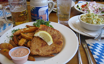Schnitzel and bier, favorites! Flickr:Ernesto Andrade