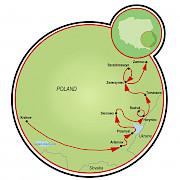 Krakow and Southeast Poland Map