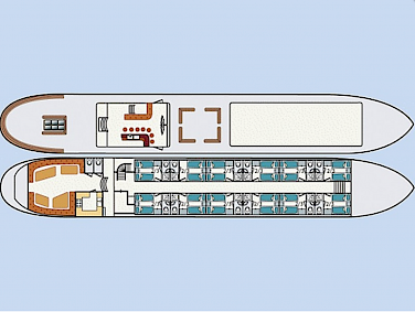 Deck plan - Wapen Fan Fryslan | Bike & Boat Tours