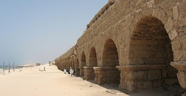 Aqueduct in Caesarea. Photo via Flickr:cmsmith_nz