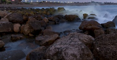Coast of Caesarea. Photo via Flickr:flavio