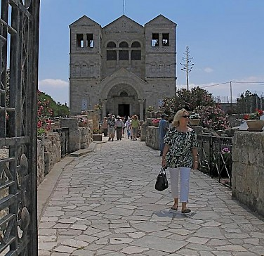Church of the Transfiguration on Mount Tabor. Photo via Flickr:SeetheHolyland.net