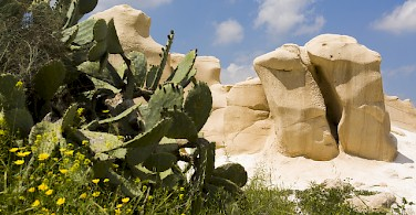 Beautiful rocks in Beit Guvrin National Park. Photo via Flickr:israeltourism