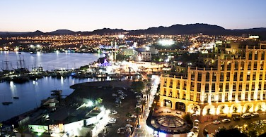 Eilat at night. Photo via Flickr:israeltourism