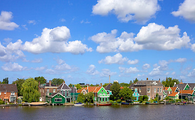 Biking around Amsterdam in North Holland. Photo via Flickr:Francesca Cappa