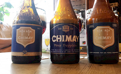 Chimay is a popular Trappist beer in Belgium. Flickr:Bernt Rostad