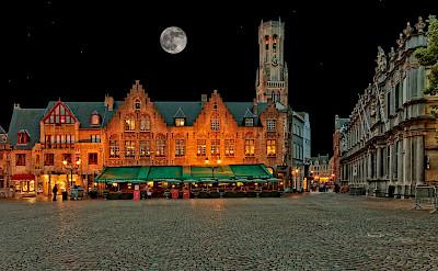 Main square in Bruges, West Flanders, Belgium. ©Hollandfotograaf