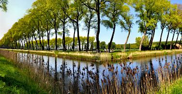 Bike paths in Damme, West Flanders, Belgium. Photo via Flickr:THS D90