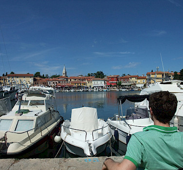 Harbor in Novigrad. Photo via Flickr:Matthew Metcalfe