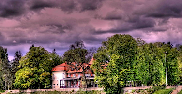 Dramatic skies over Karlovac. Photo courtesy of Hotel Korana