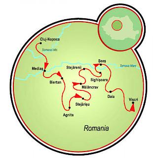 Saxonland - Cycling in Romania Map