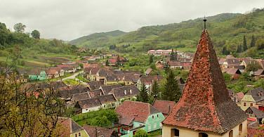 Biking the gorgeous countryside in Saxonland, Romania. Photo courtesy of the tour operator.