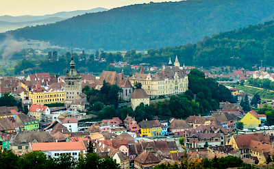 Schäßburg Medieval Citadel in Sighisoara, Transylvania, Romania. Photo via Flickr:Andrew Colin