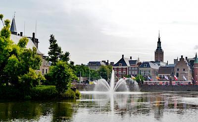 Hofvijver at the Binnenhof in the Hague (Den Haag), South Holland, the Netherlands. CC:Zairon