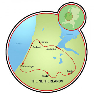 Villages and Beaches of Holland Map