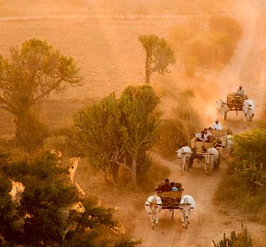 Farmers in Bagan, Myanmar (formerly Burma). Photo via Flickr:Alex Schwab