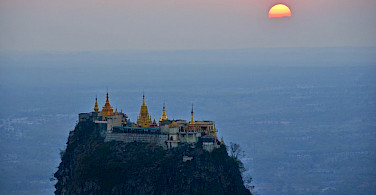 Mount Popa is a old volcano south of Bagan, Myanmar. Photo by Tim Manning