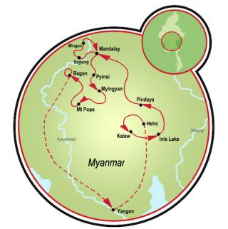 Aventura en Burma Map