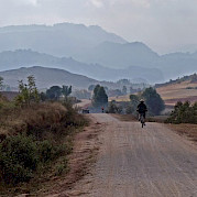 Aventura em Burma Foto