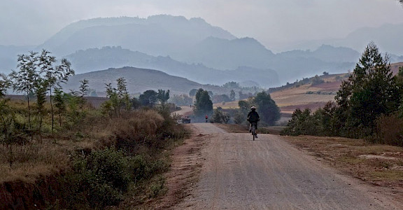 Riding into the mountains in Burma (officially the Republic of the Union of Myanmar). Photo by Tim Manning