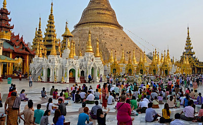 The Buddhist Shwedagon Pagoda is considered the most sacred in Myanmar. It sits on Singuttara Hill, Yangon. Photo by Tim Manning