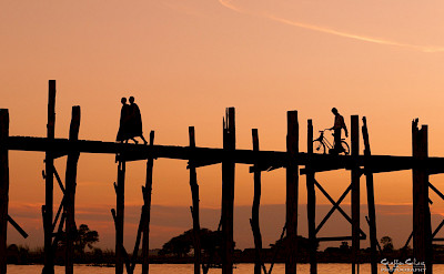 U Bein Bridge, Mandalay, Myanmar. Photo via Flickr:Staffan Scherz