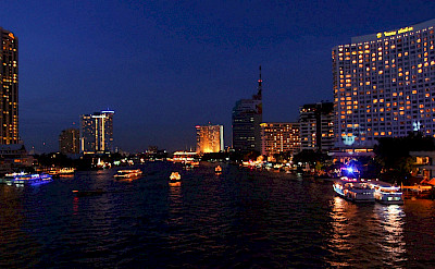 Bangkok aglow at night. Thailand. Photo via Flickr:vngrijl