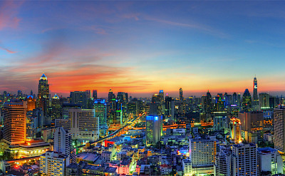 Dusk in Bangkok, Thailand. Photo via Flickr:Mike Behnken