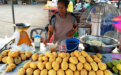 Mangoes for sale in Chumphon, Thailand. Photo via Flickr:Robert J.