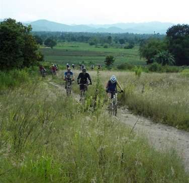 Biking the countryside in Thailand. Photo via Flickr:bangkokbikehash