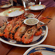 River prawns for lunch in Thailand. Photo via Flickr:The Integer Club