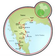 Costa Tailândia Mapa