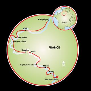 Around Paris Map