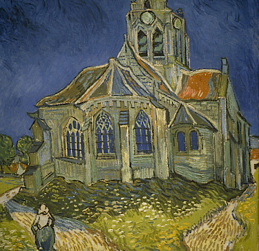 Church in Auvers-sur-Oise made famous by Van Gogh's painting. Photo via Flickr:MCAD Library