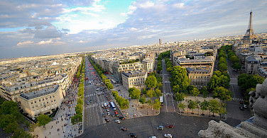 View from the Arc de Triomph, Paris. Photo via Flickr:Eric Chan
