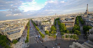 View from the Arc de Triomph, Paris. Photo via Flickr:Eric Chan