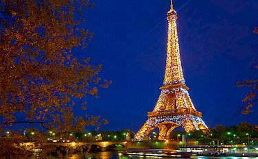 Eiffel Tower all aglow in beautiful Paris, France! Biking in the City of Light, woohoo! Photo via Flickr:Moyan Brenn
